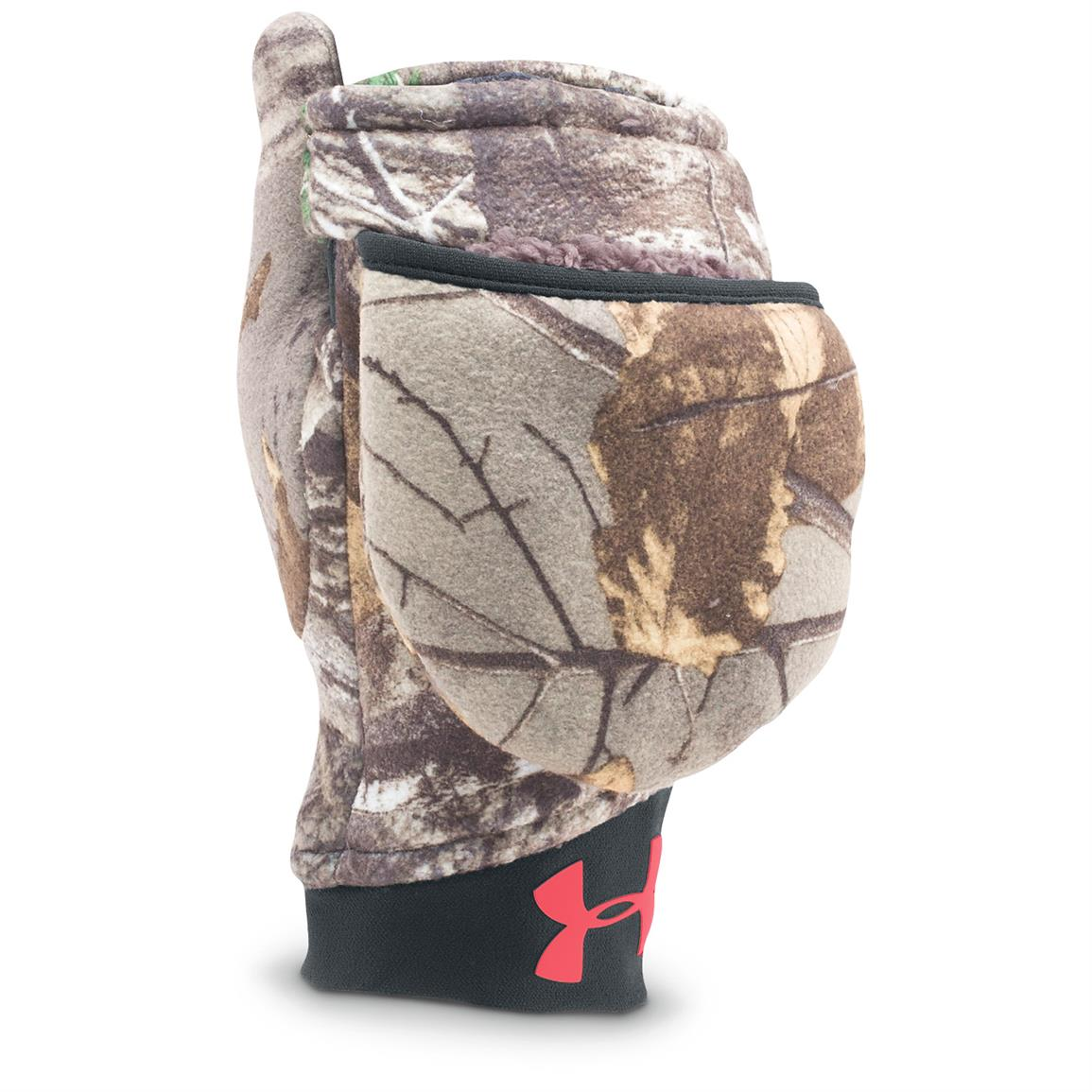 Under Armour Women's Camo Mittens, Pink Chroma