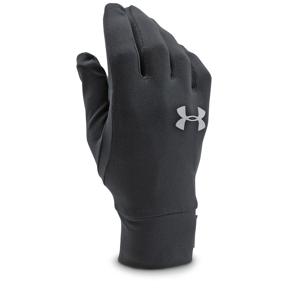 Under Armour Men's Core Liner Gloves, Black
