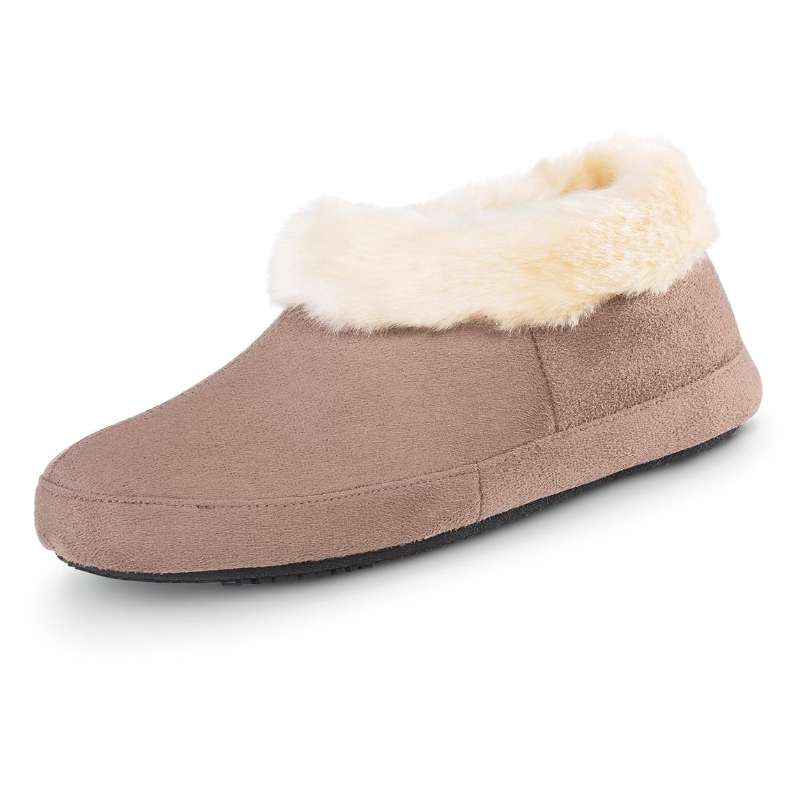 Woodlands Women's Erica Low Bootie Slippers, Taupe