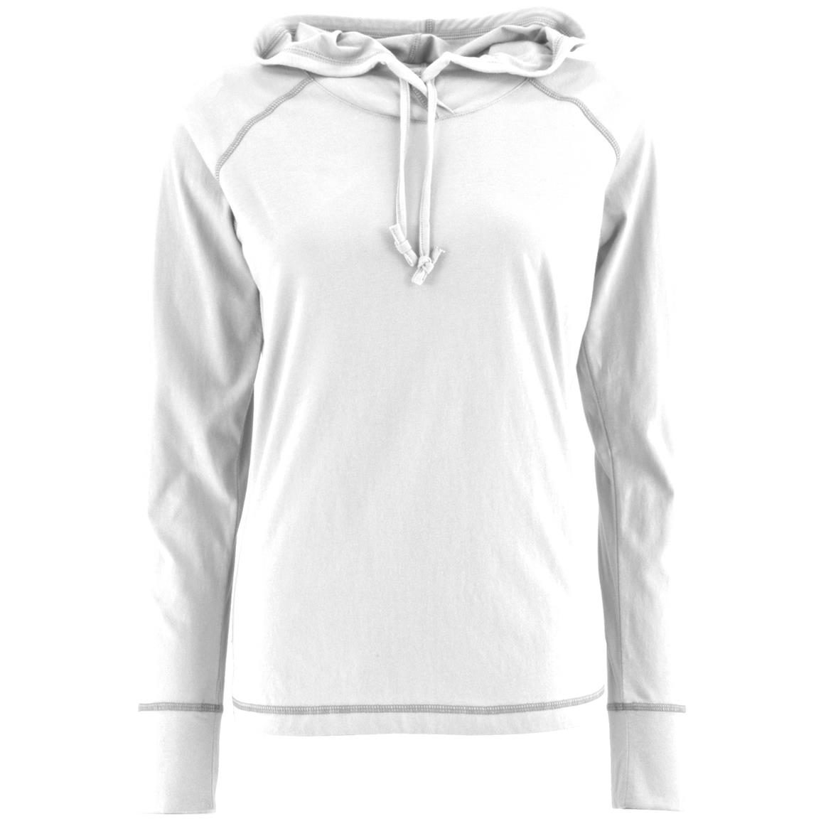 Women's Bug-free Pullover Hoodie, Permethrin, White