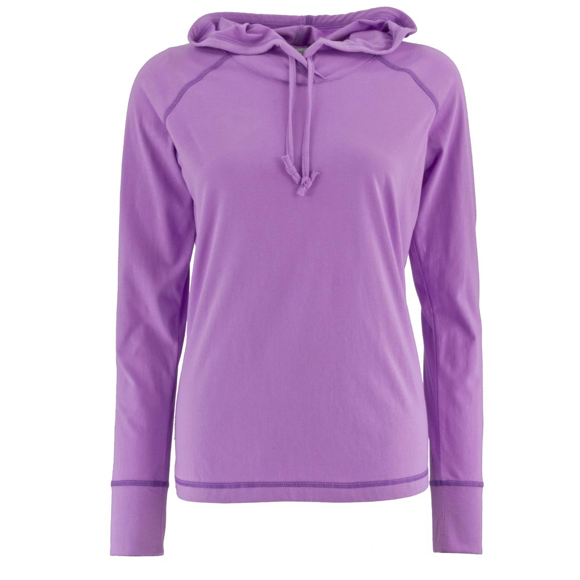 Women's Bug-free Pullover Hoodie, Permethrin, Lilac