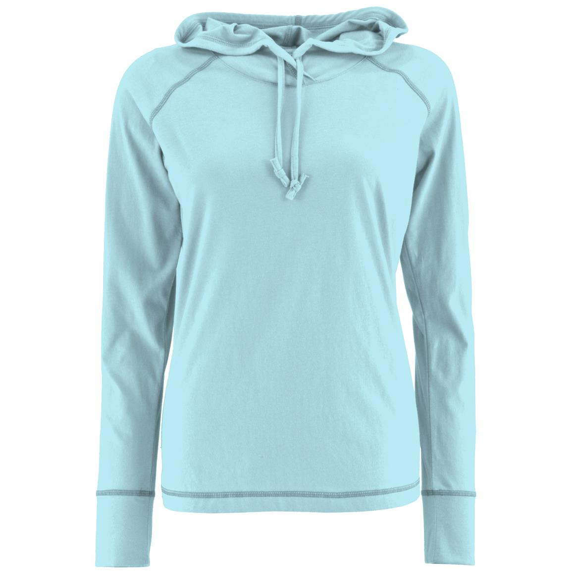 Women's Bug-free Pullover Hoodie, Permethrin, Sky Blue