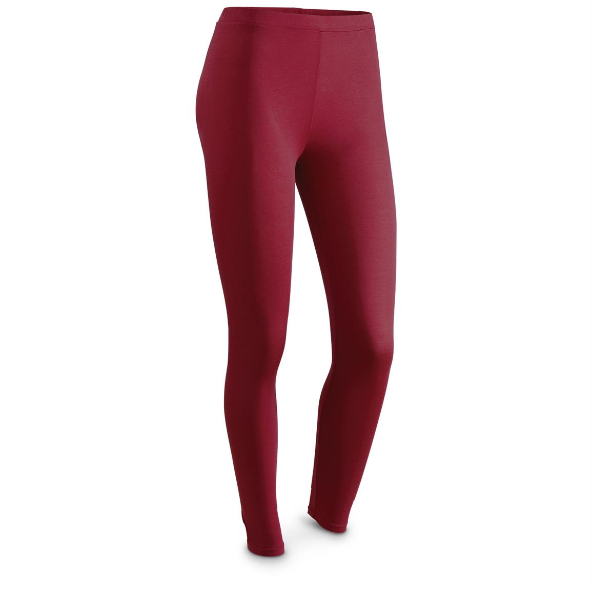 Weatherproof 32 Degrees HEAT Women's Base Layer Bottoms, Garnet Red