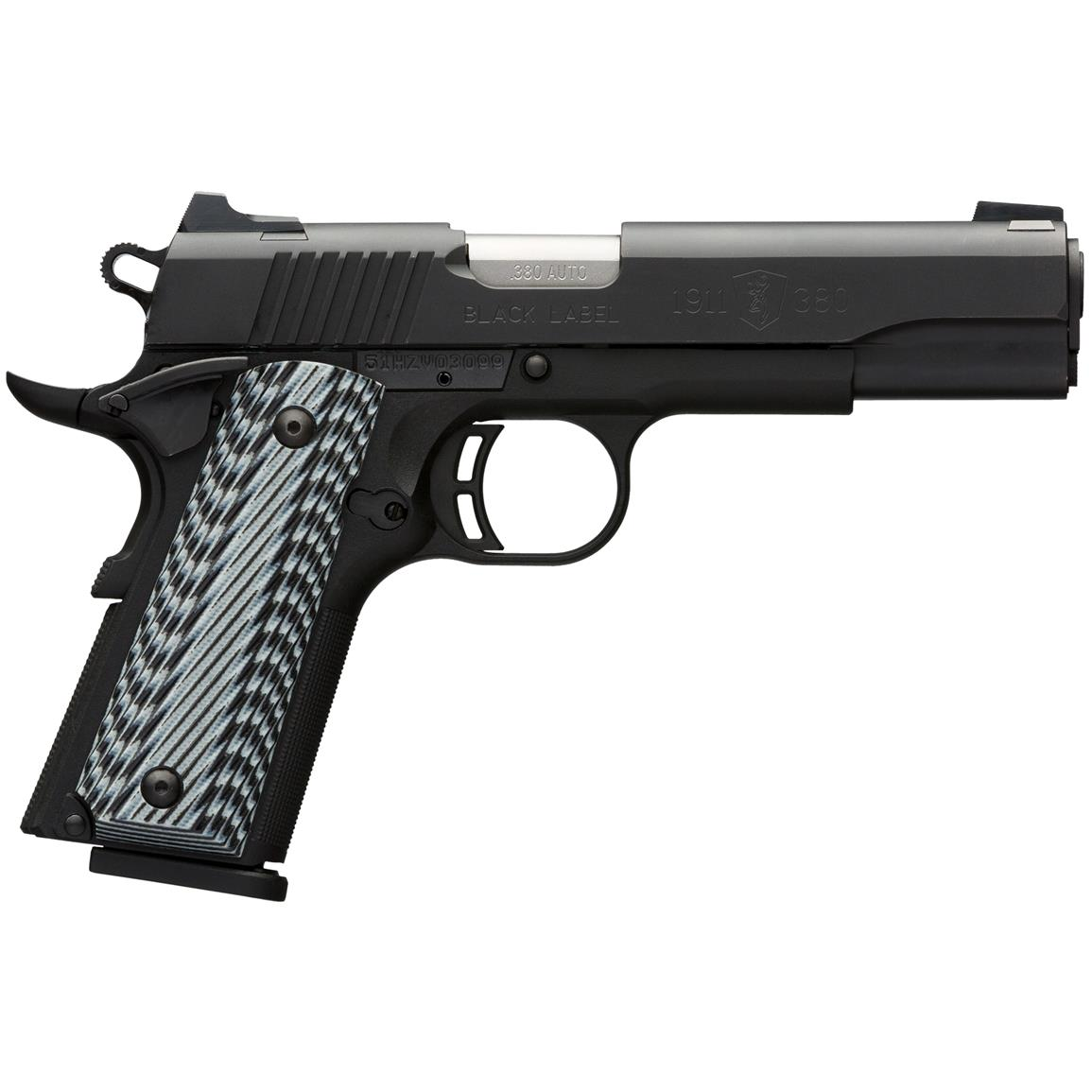 "Browning 1911-380 Black Label Pro, Semi-automatic, .380 ACP, 4.25"" Barrel, 8 rounds"
