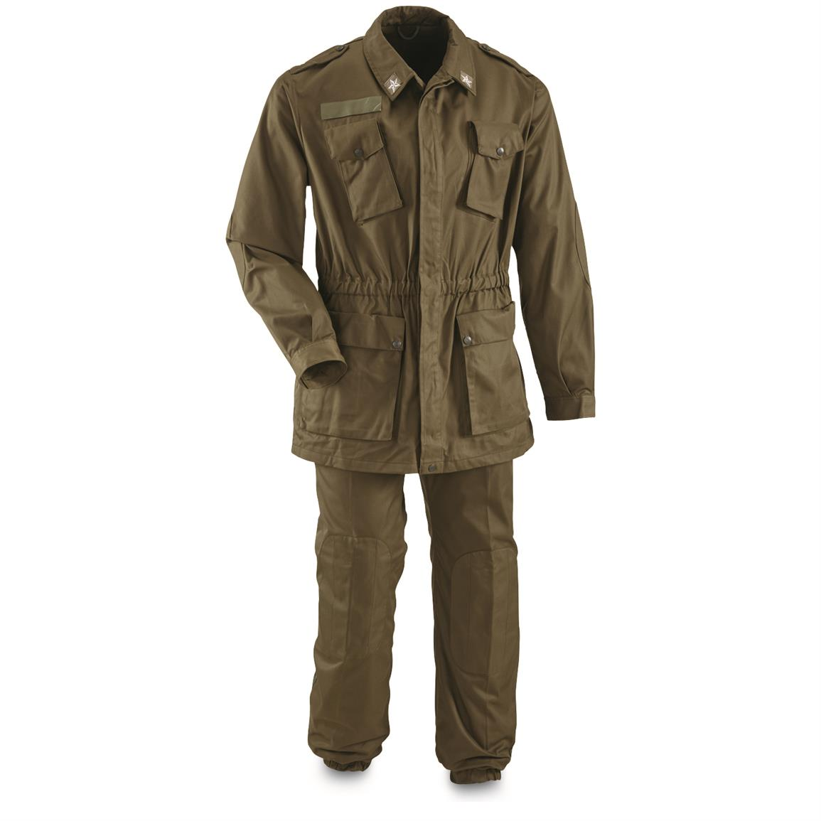 Italian Military Surplus BDU Jacket and Pants Set, New