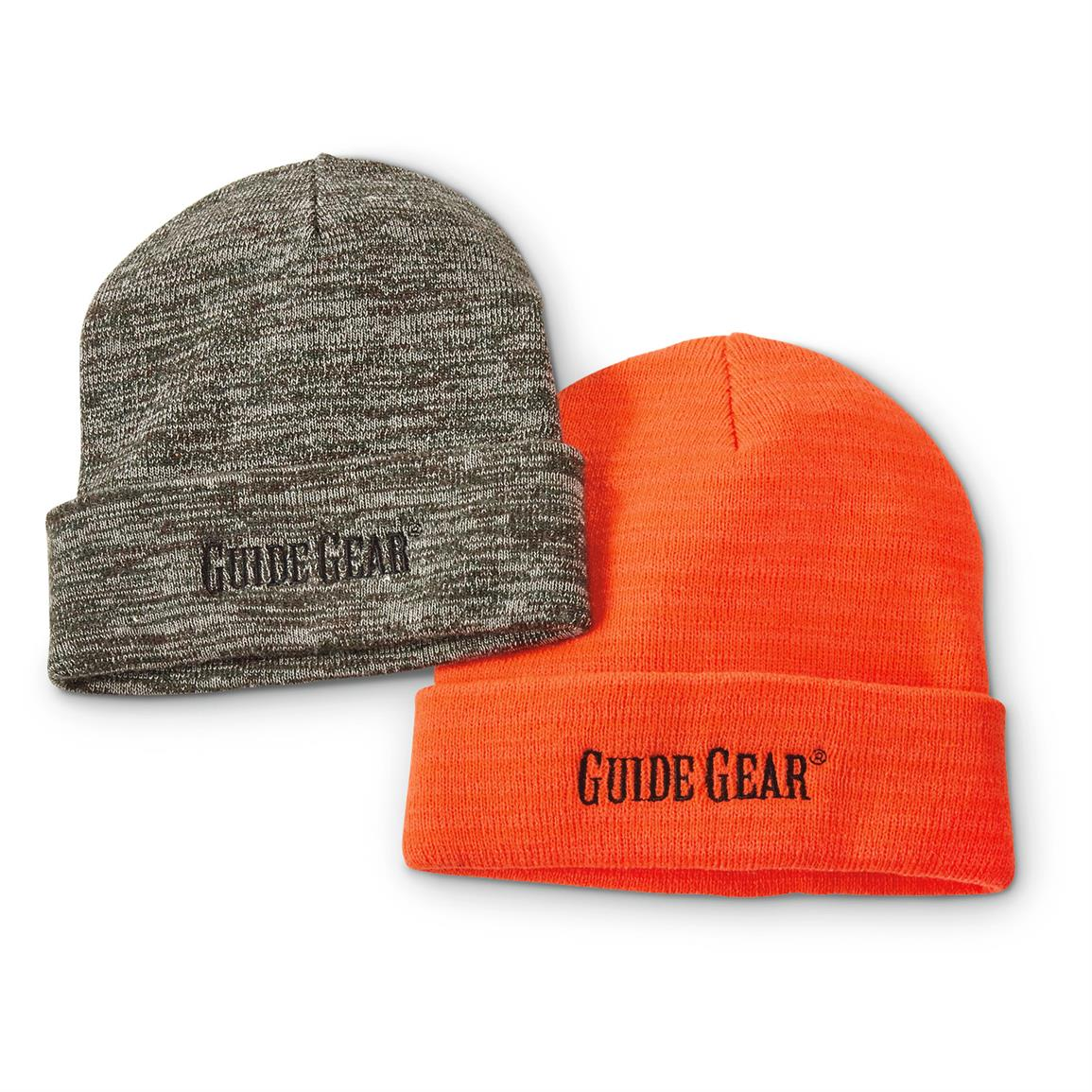 Guide Gear Knit Beanies, 2 Pack