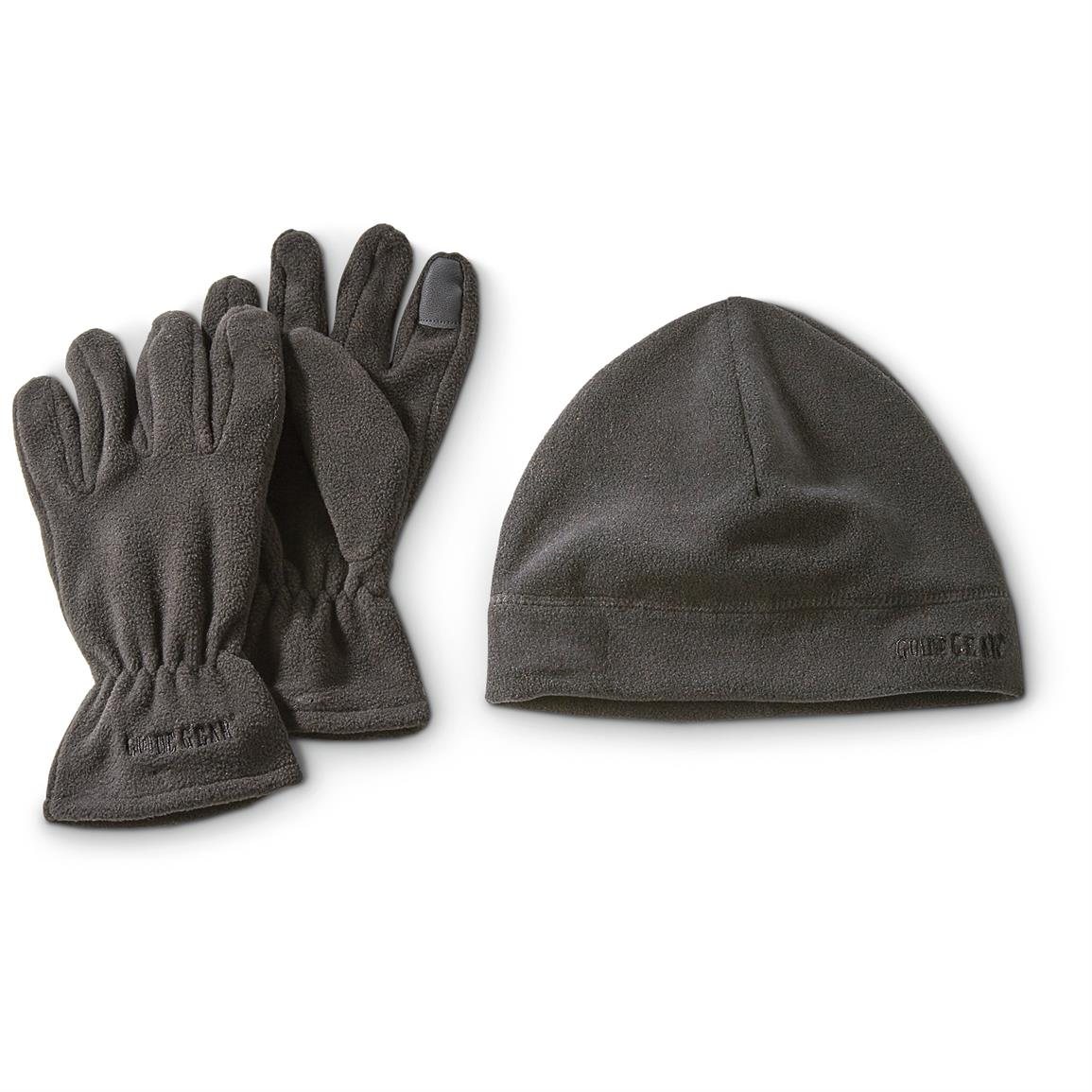 Guide Gear Beanie and Texting Gloves Set, Black