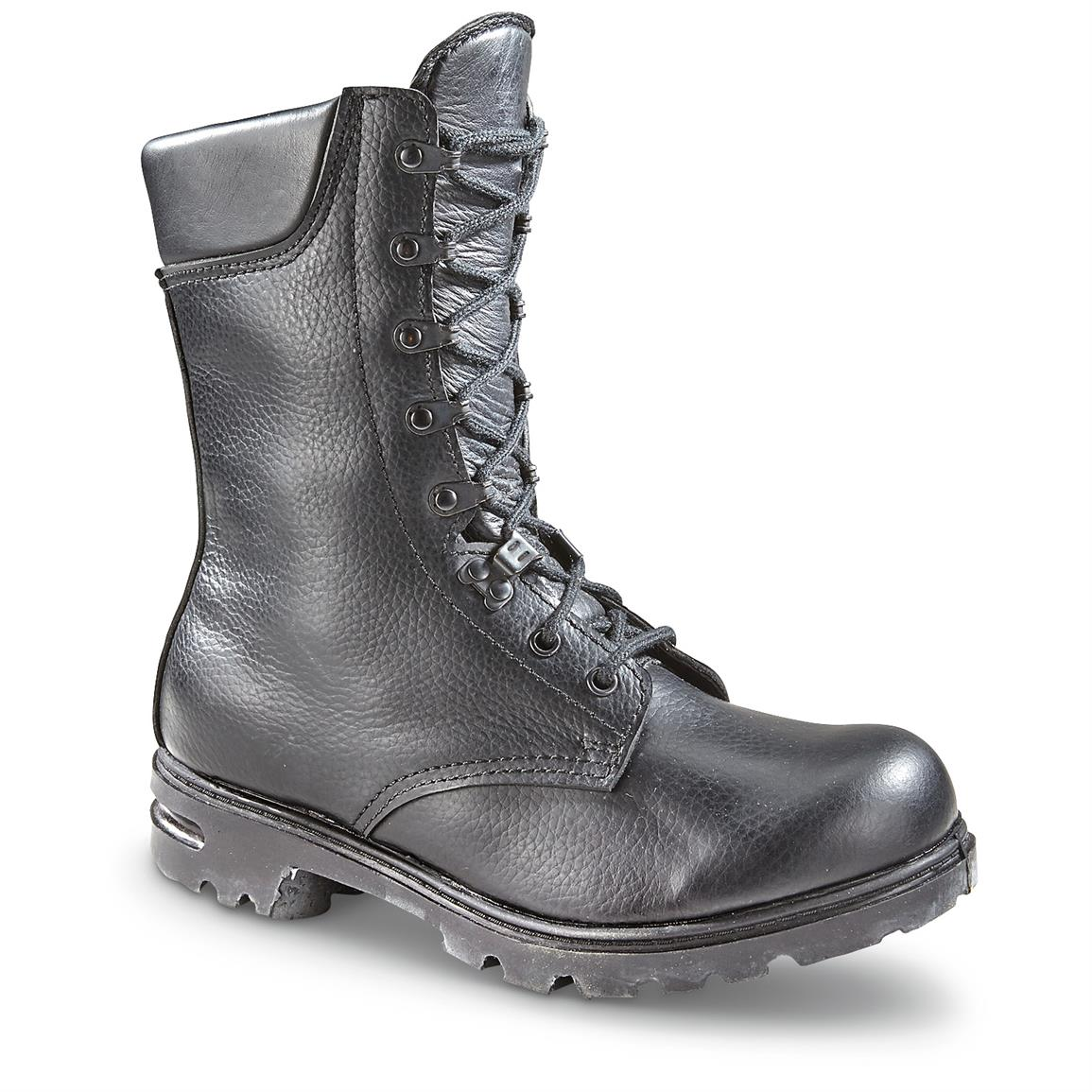 Dutch Military Issue Leather Combat Boots, New
