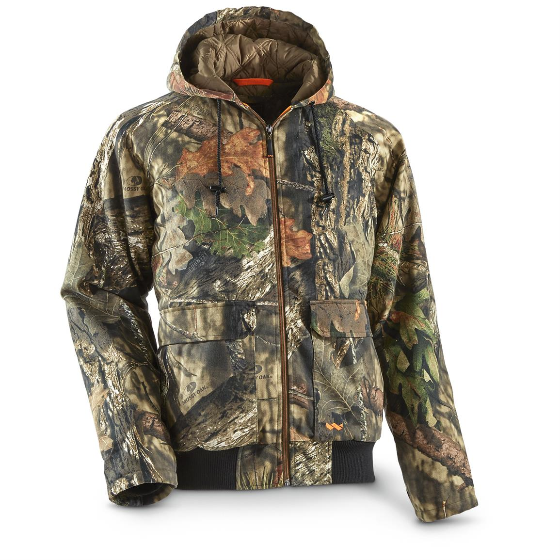 Walls Men's Insulated Camo Bomber Jacket, Mossy Oak Break-Up Country