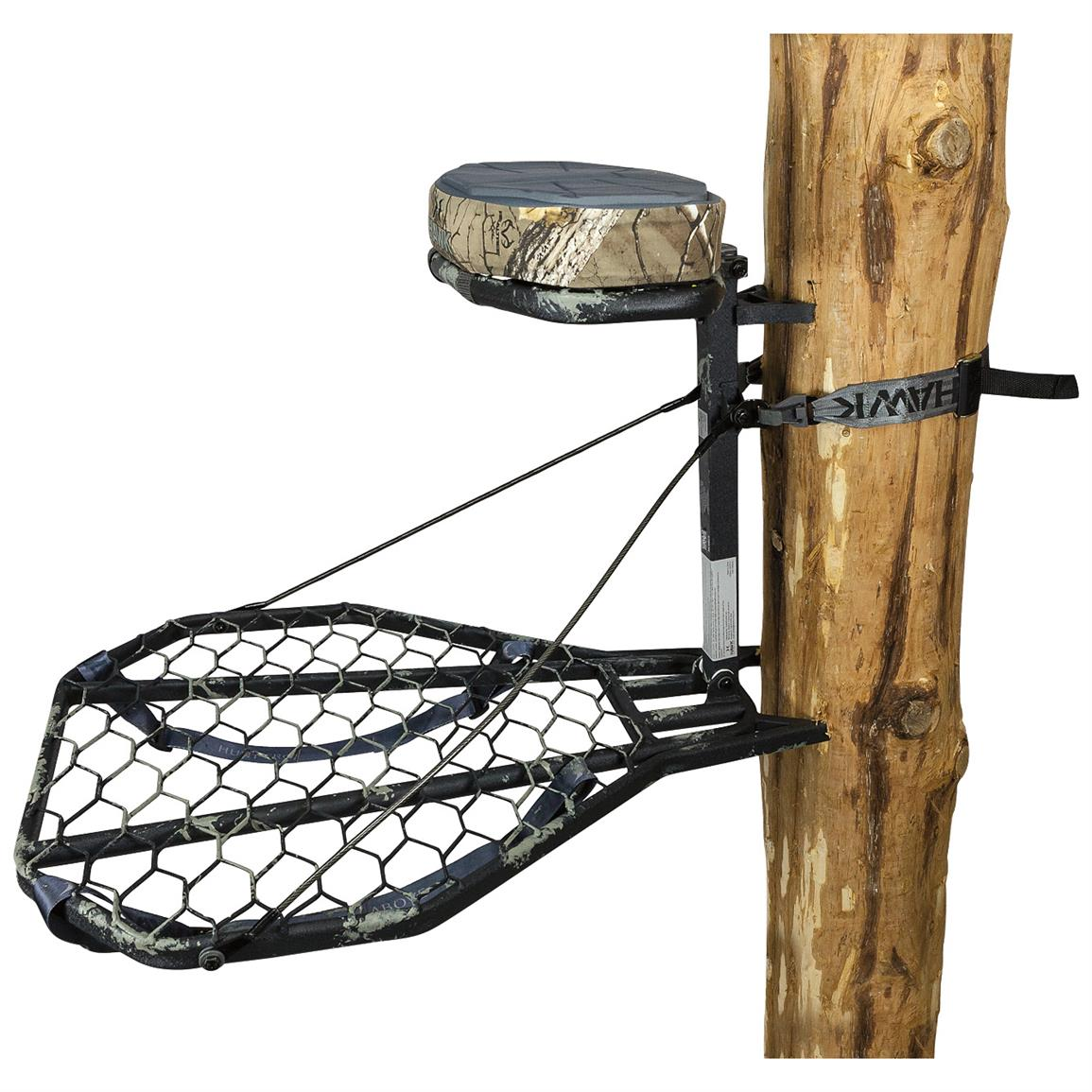 Hawk Mega Combat Hang-on Tree Stand with Mud Finish