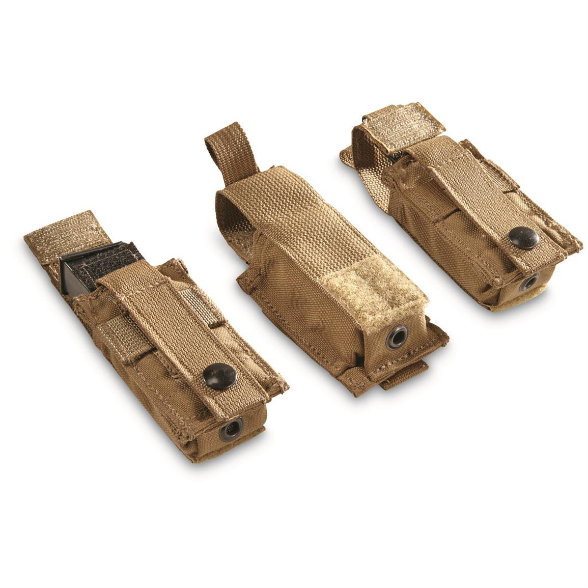 U.S. Military Issue 9mm Mag Pouches, 3 Pack, New