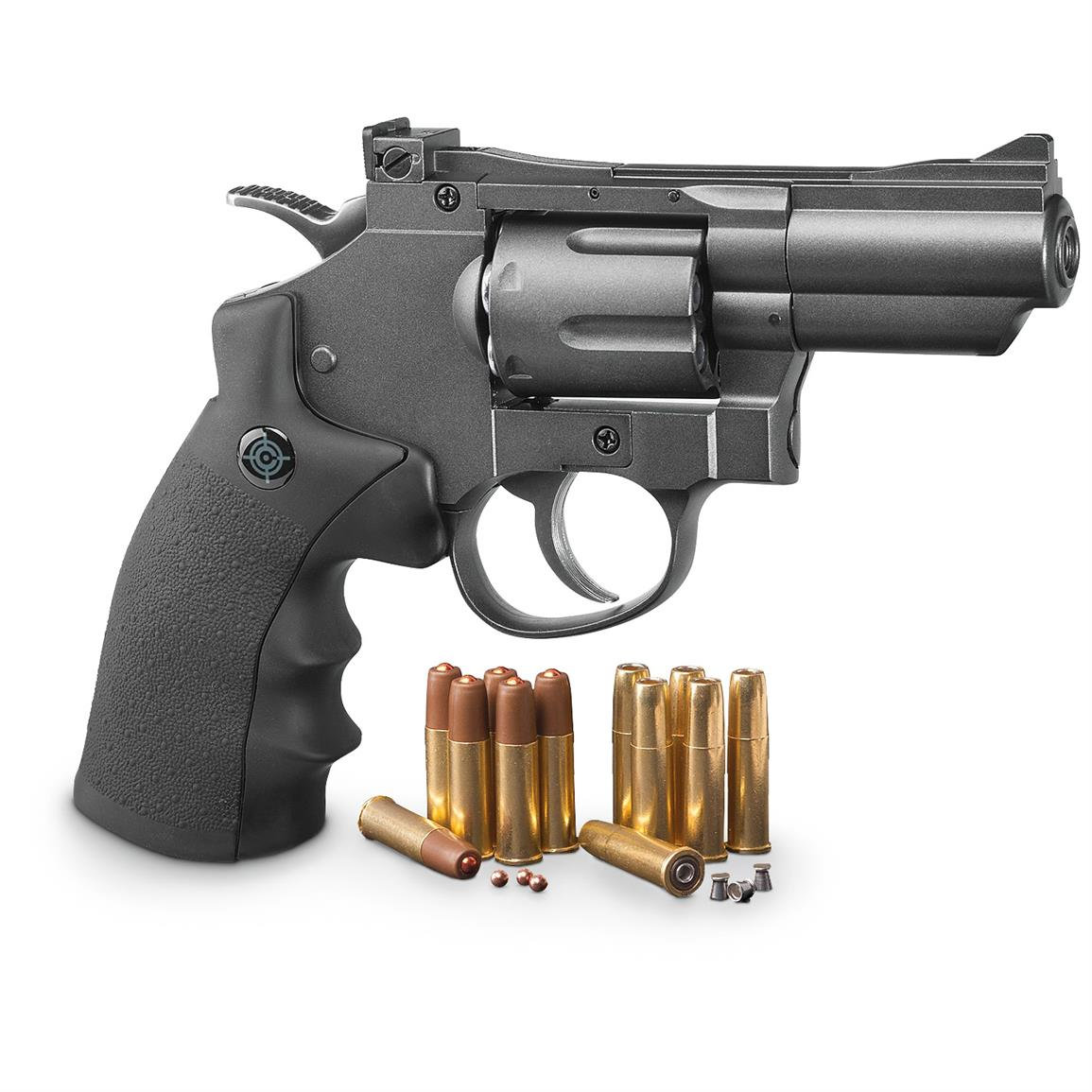 Crosman SNR357 Revolver Dual Ammo CO2 Air Gun, .177 Caliber