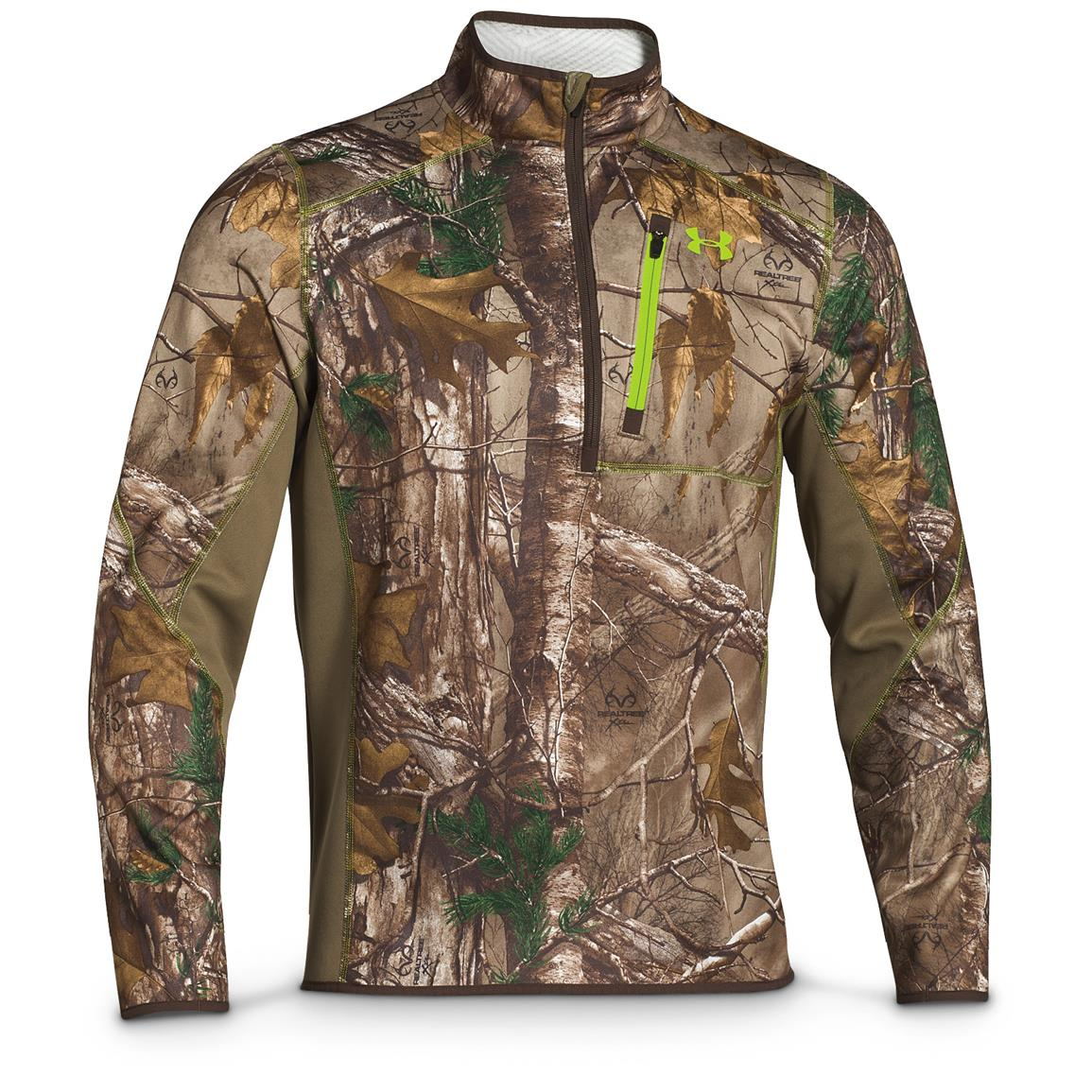 Under Armour Men's ColdGear Scent Control Fleece Hunting Jacket, Realtree Xtra
