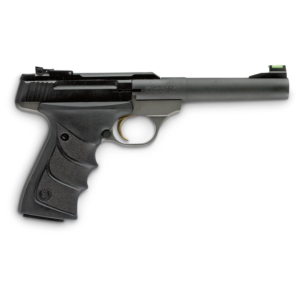 Browning Buck Mark Practical URX, Semi-Automatic, .22LR, TruGlo Fiber Optic Sights, 10+1 Rounds