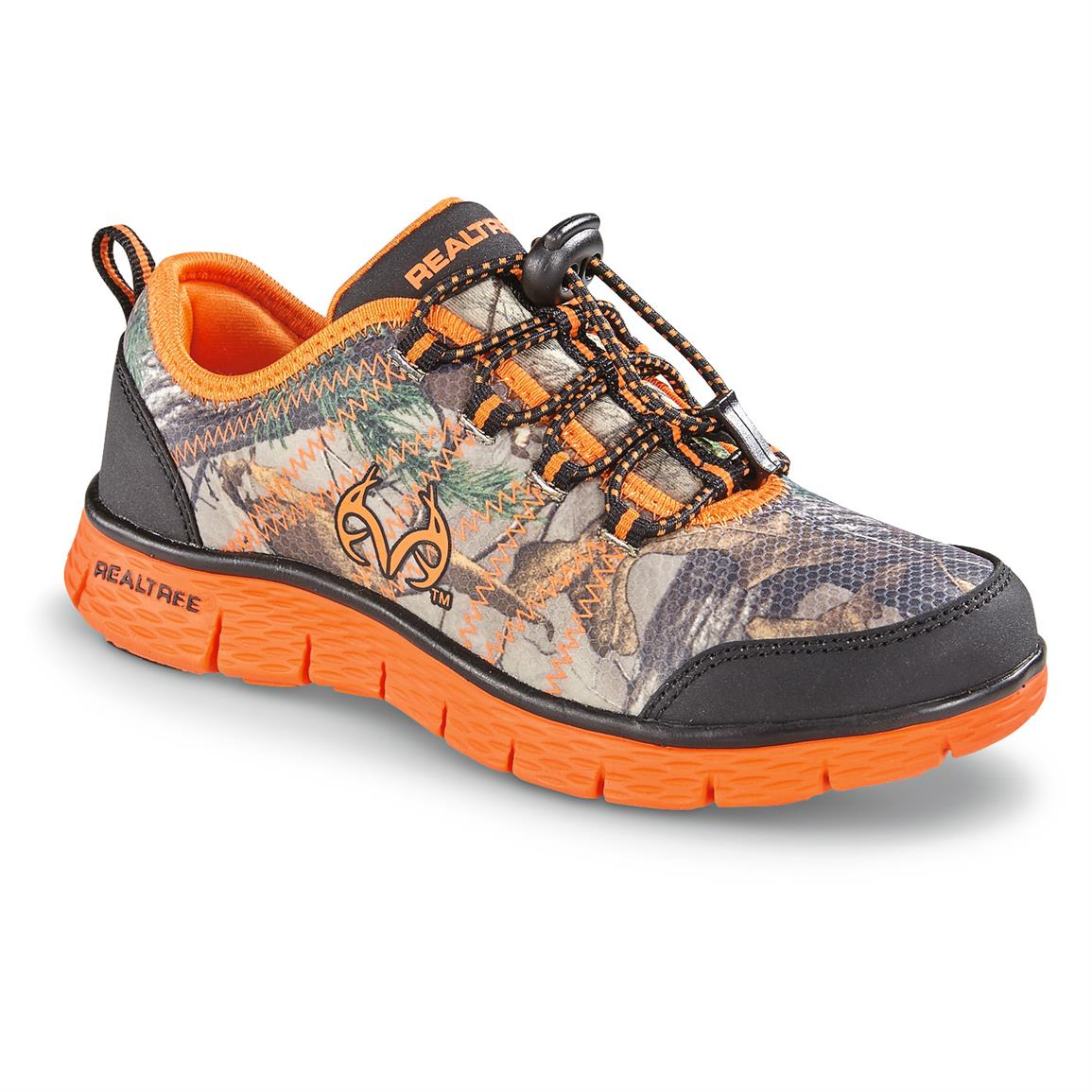 Realtree Kids Eagle Athletic Shoes with Free Lunchbox, Realtree Xtra / Bolt Orange