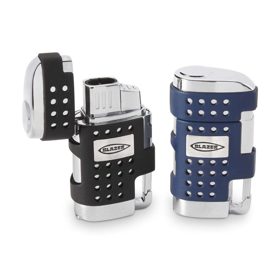 Blazer EVO Dual Flame Torch Lighter with Cigar Punch