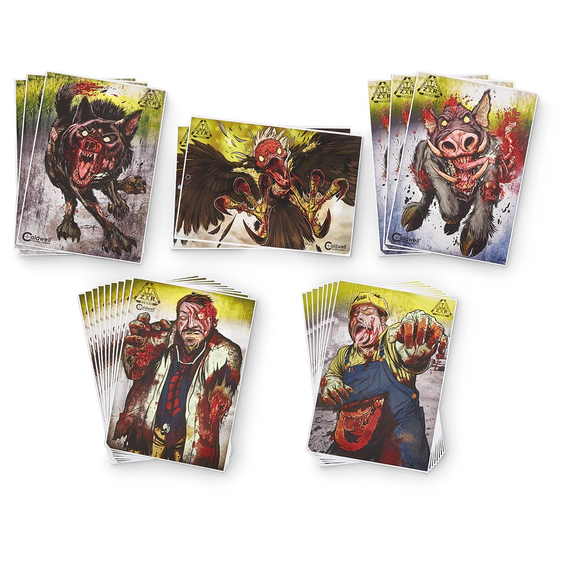 Caldwell ZTR Zombie Flake-Off Targets, 24 Pack