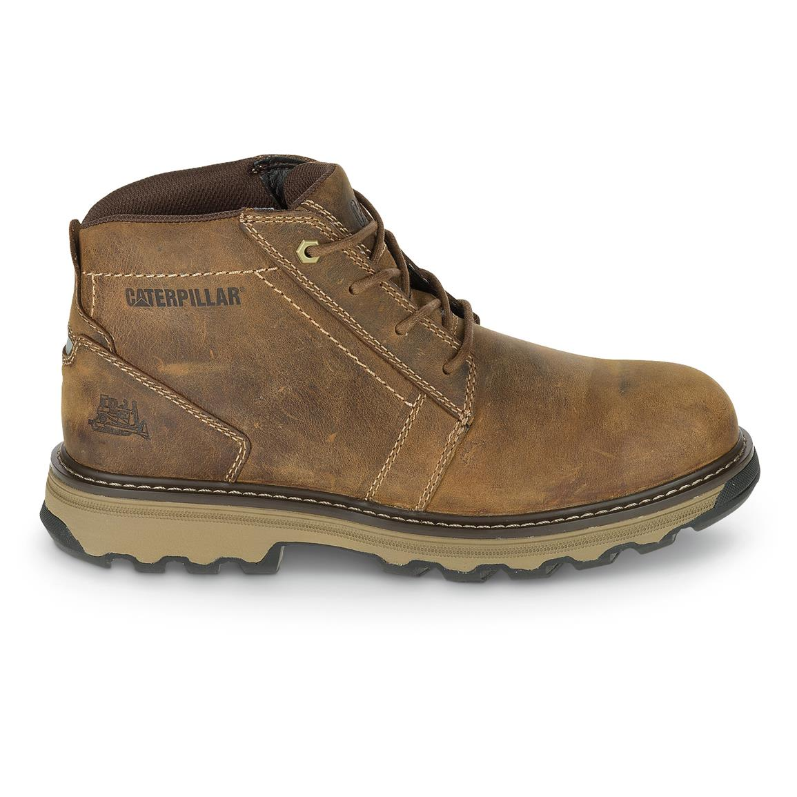 Cat Footwear Men's Parker ESD Work Boots, Dark Beige