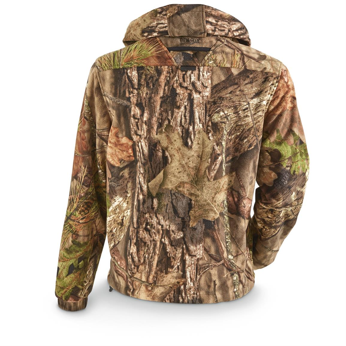 Outer shell is 200-gram 100% polyester microfleece that's warm, windproof, and comfortable