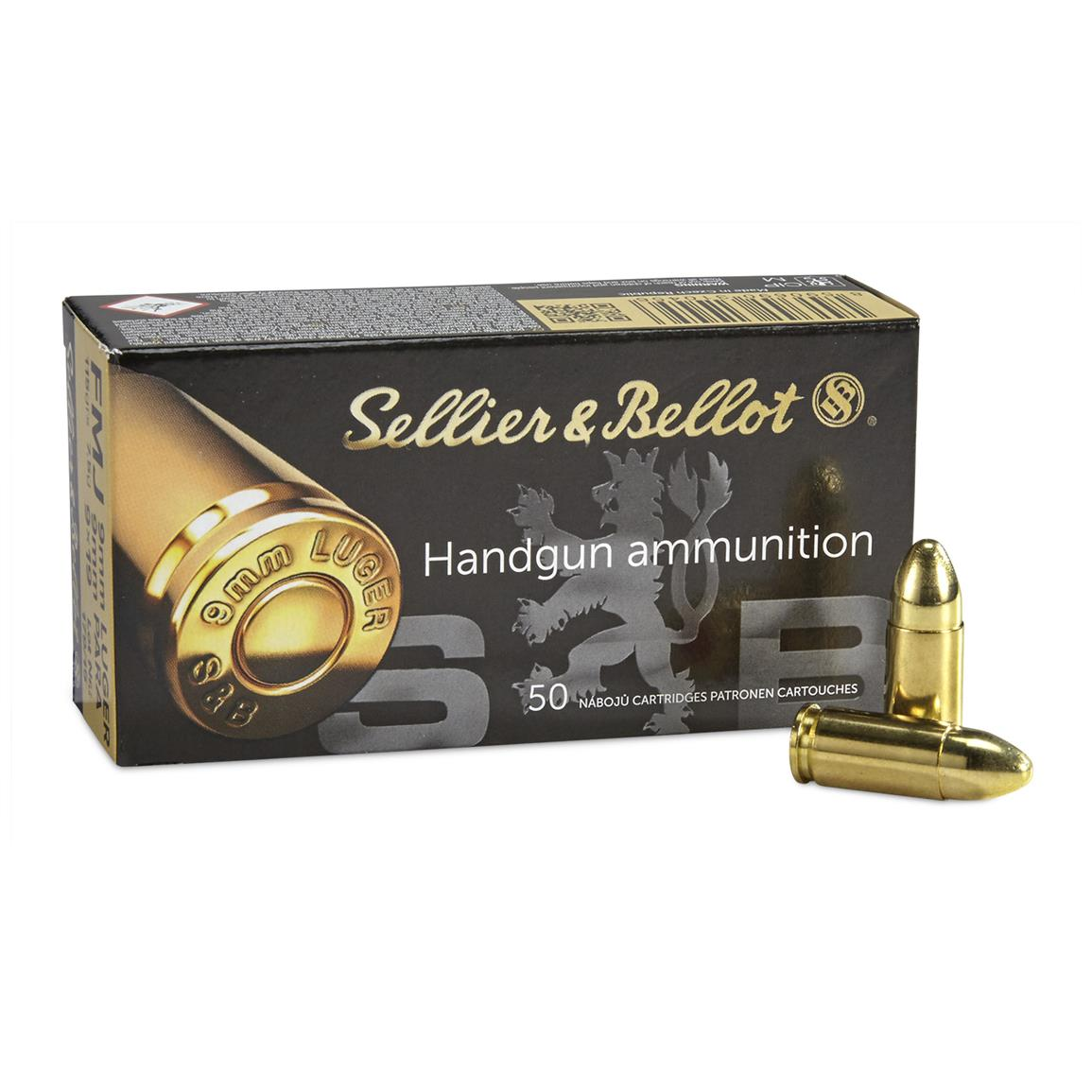Sellier & Bellot, 9mm Luger, FMJ, 115 Grain, 2000 Rounds