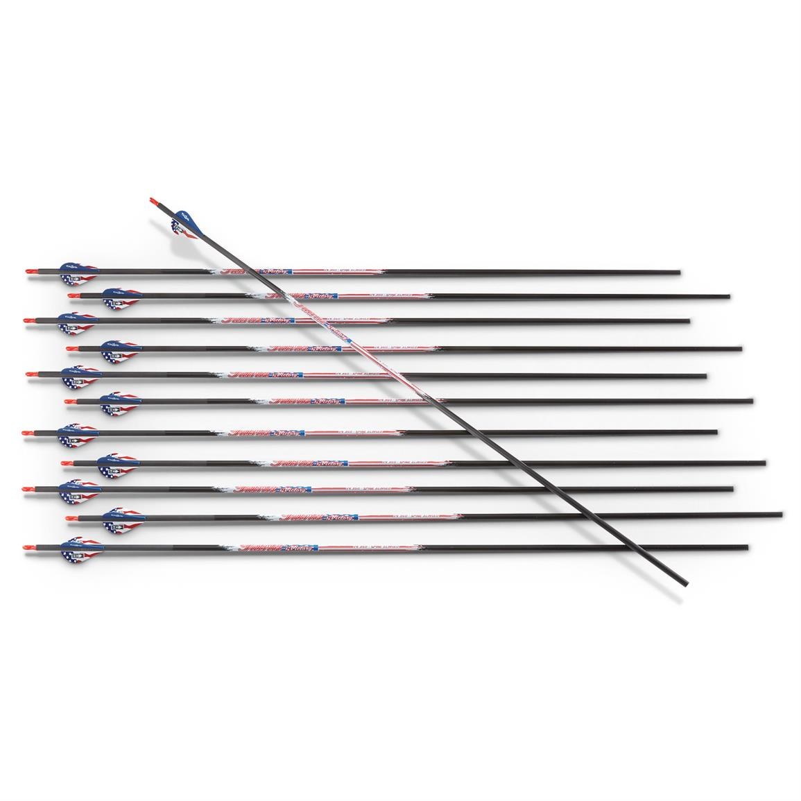 Victory Patriot Carbon Arrows, 12 Pack