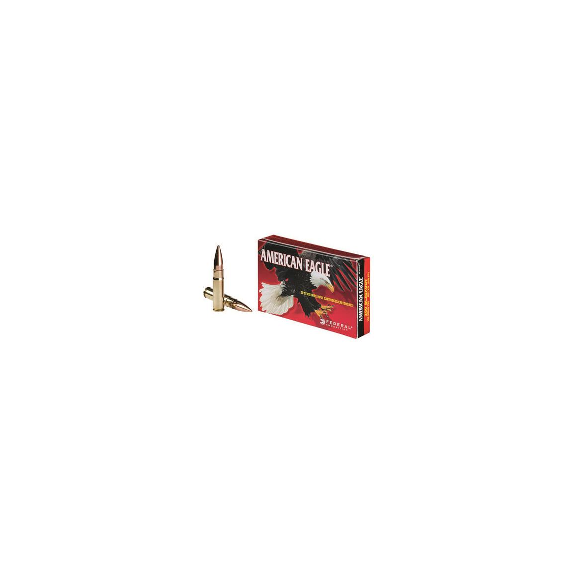 Federal American Eagle, .300 AAC Blackout, FMJBT, 150 Grain, 20 Rounds