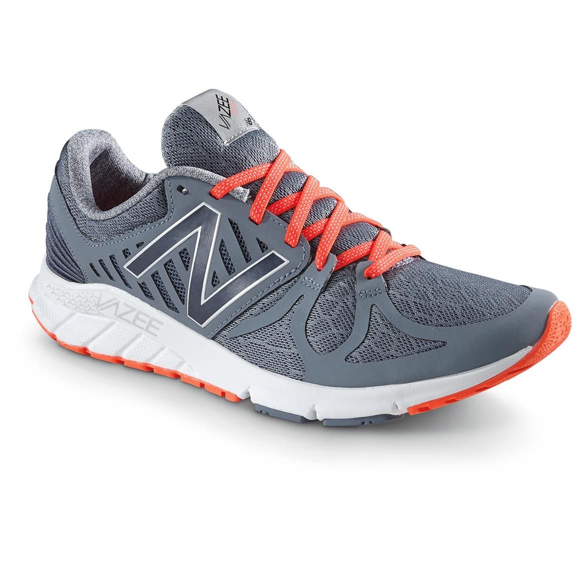 New Balance Men's Vazee Rush Running Shoes, Gray / Orange