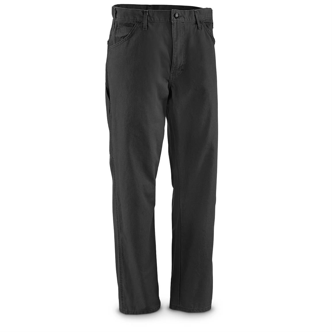 Dickies Men's Duck Utility Carpenter Pants, Slight Irregulars, Black