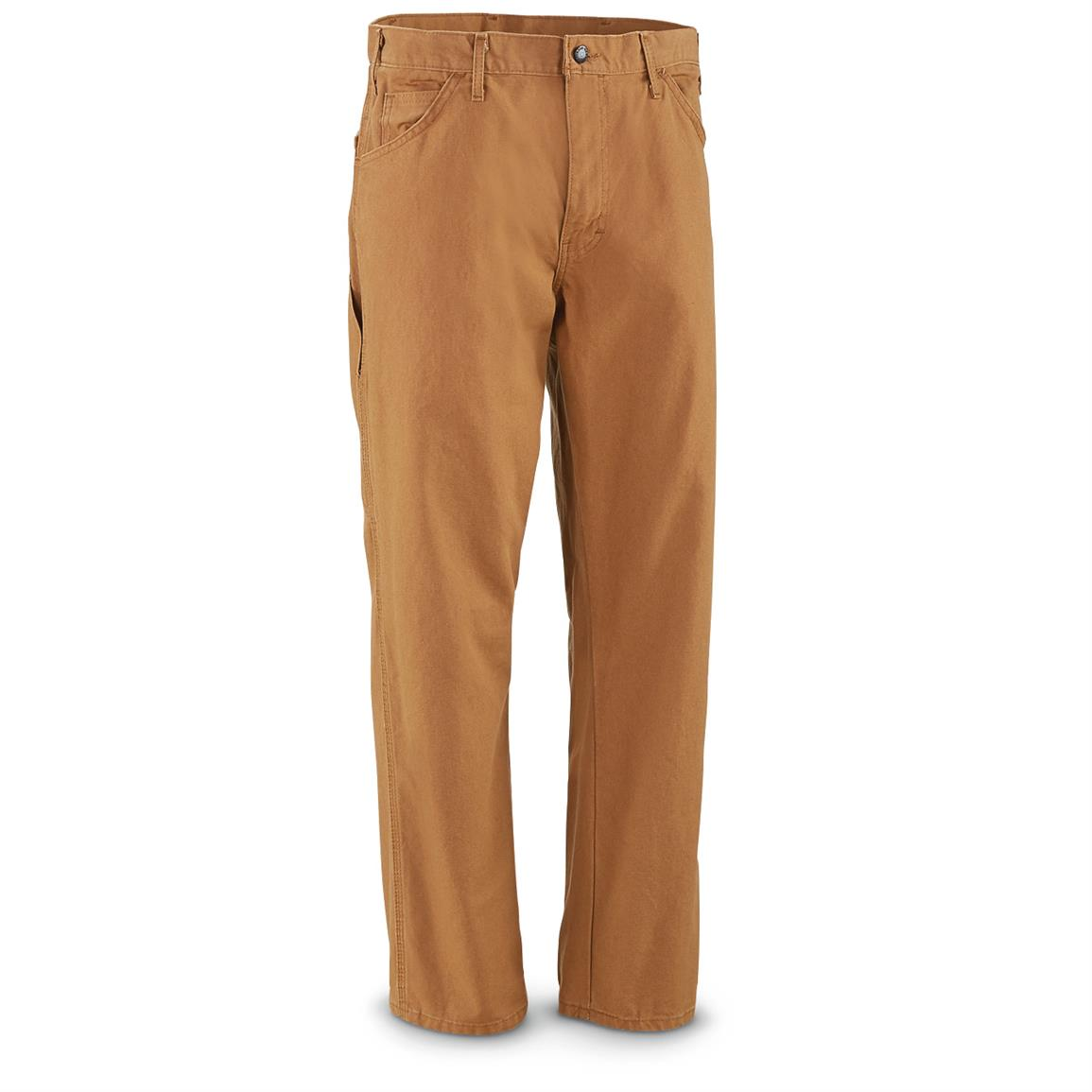 Dickies Men's Duck Utility Carpenter Pants, Slight Irregulars, Brown