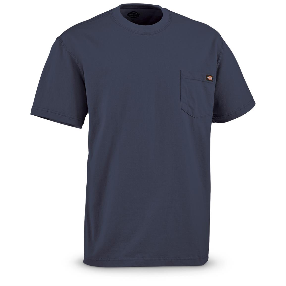 Dickies Men's Short Sleeve Pocket Shirt, 2 Pack, Navy