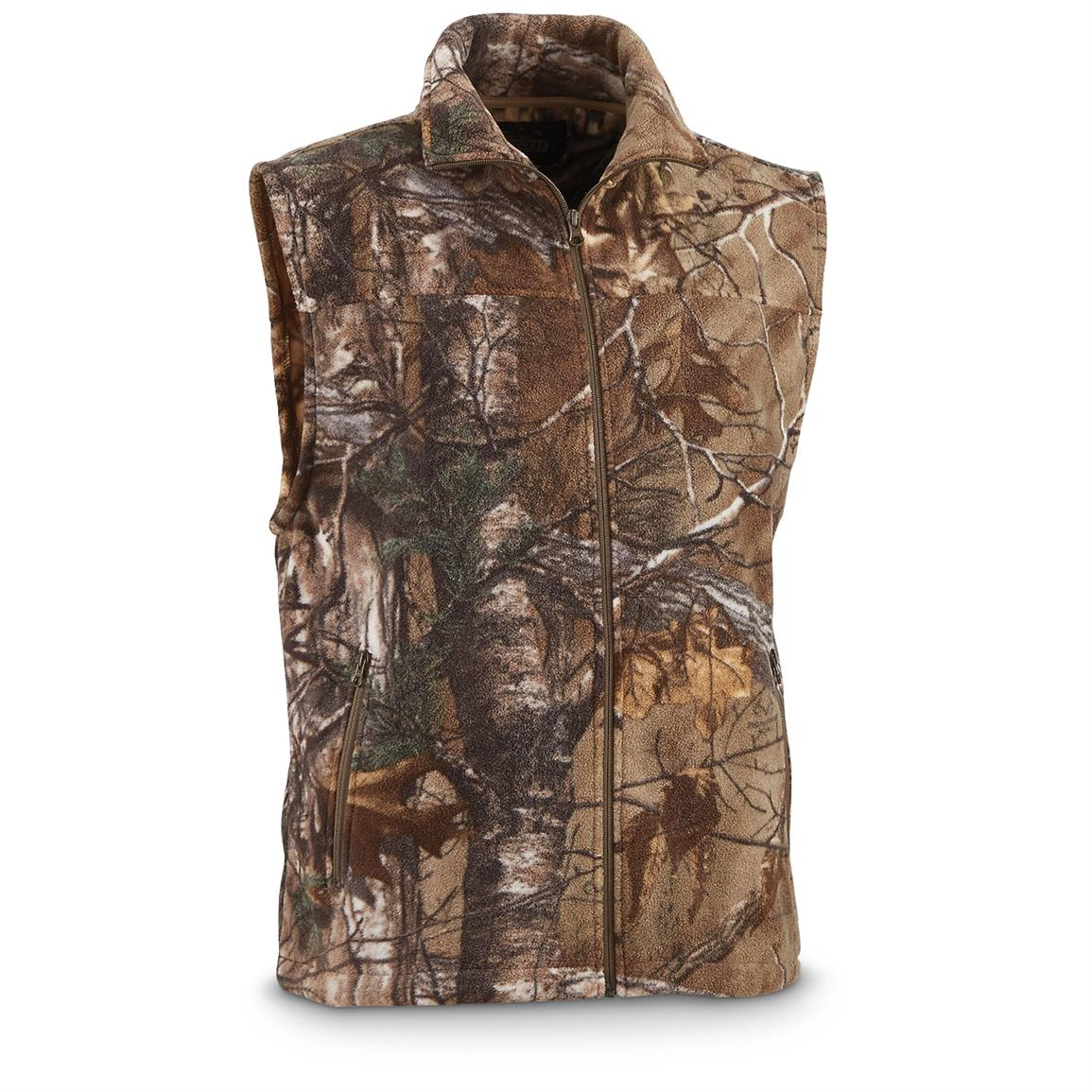 Guide Gear Men's Fleece Vest, Realtree Xtra