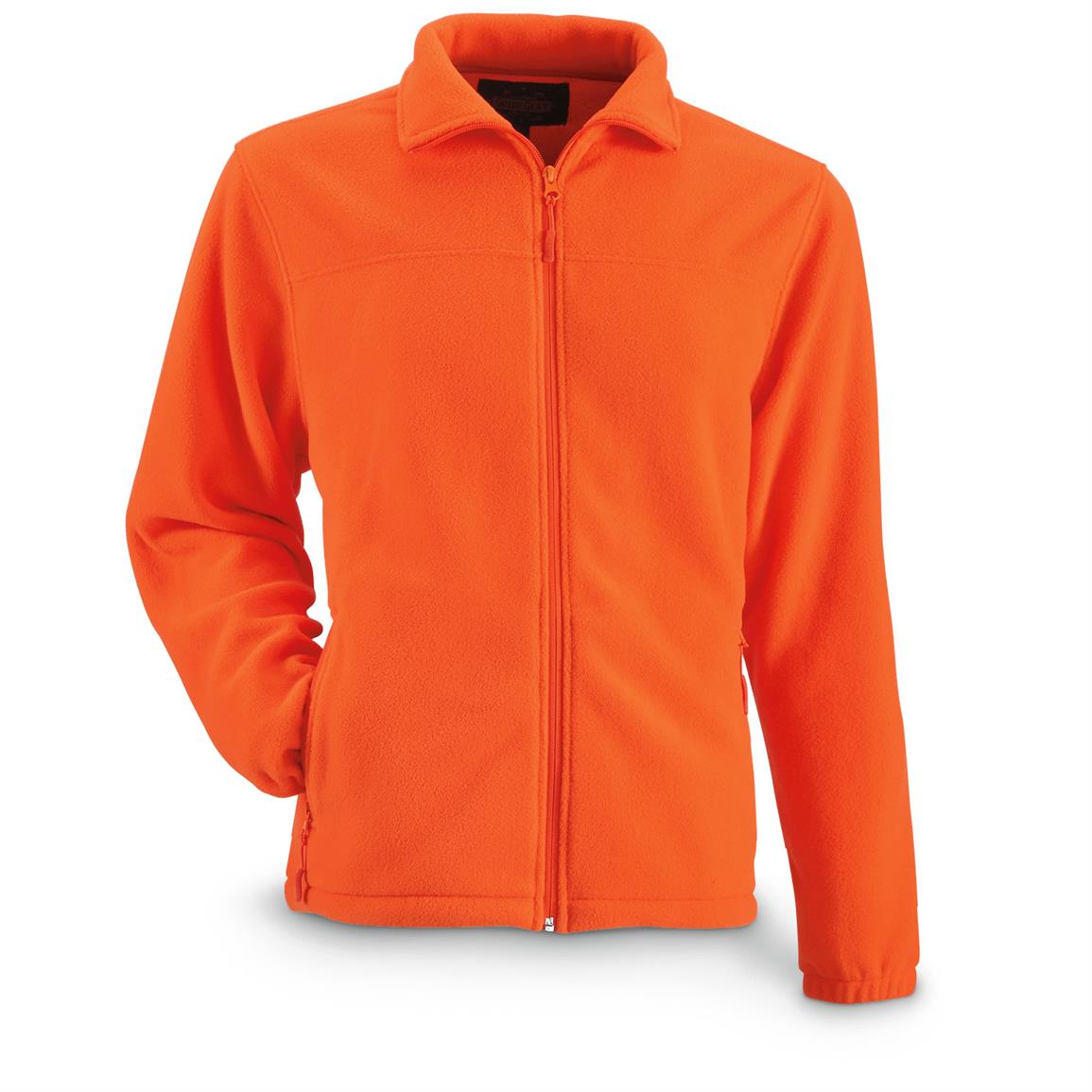Guide Gear Men's Fleece Full Zip Jacket, Blaze