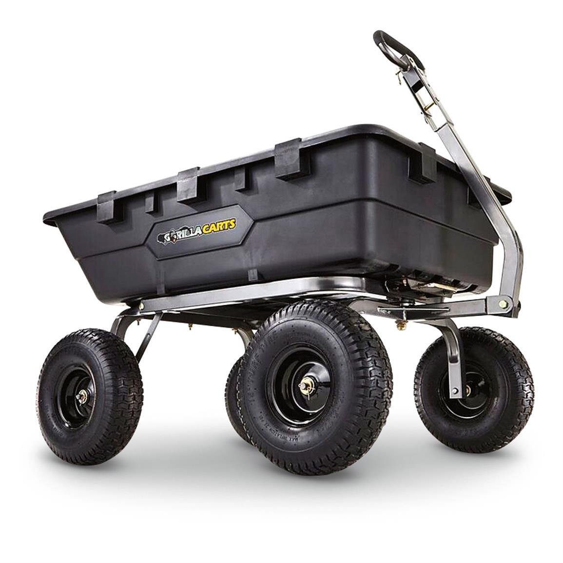 Gorilla Carts Poly Garden Cart, 1,500 Pound Capacity
