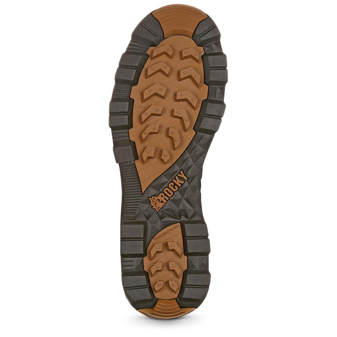Rubber outsole for all-over traction