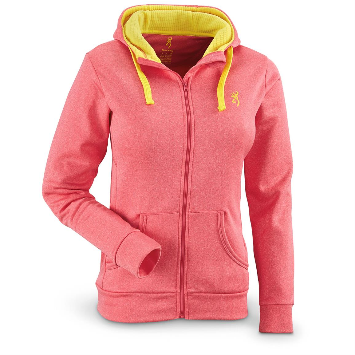 Browning Women's Performance Full Zip Hoodie, Fuchsia