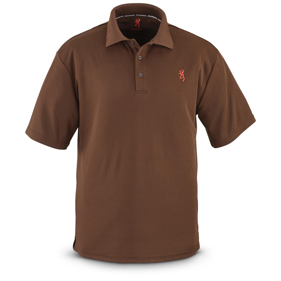 Browning Men's Performance Short-Sleeve Polo, Timber