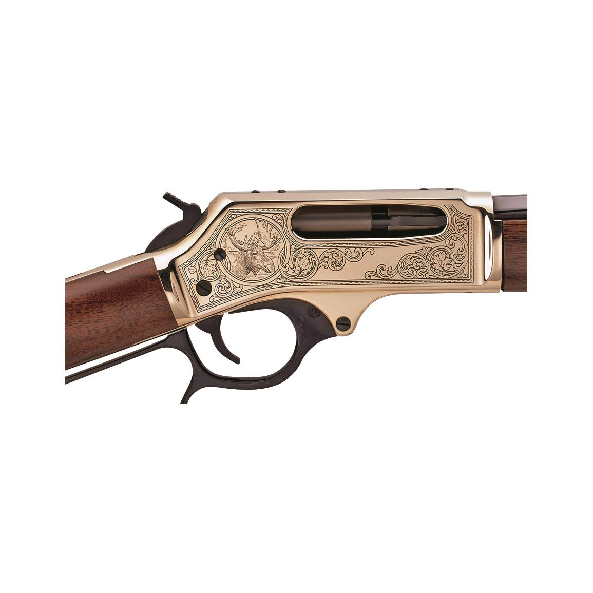 Receiver is engraved with a whitetail deer, giving it heirloom appeal