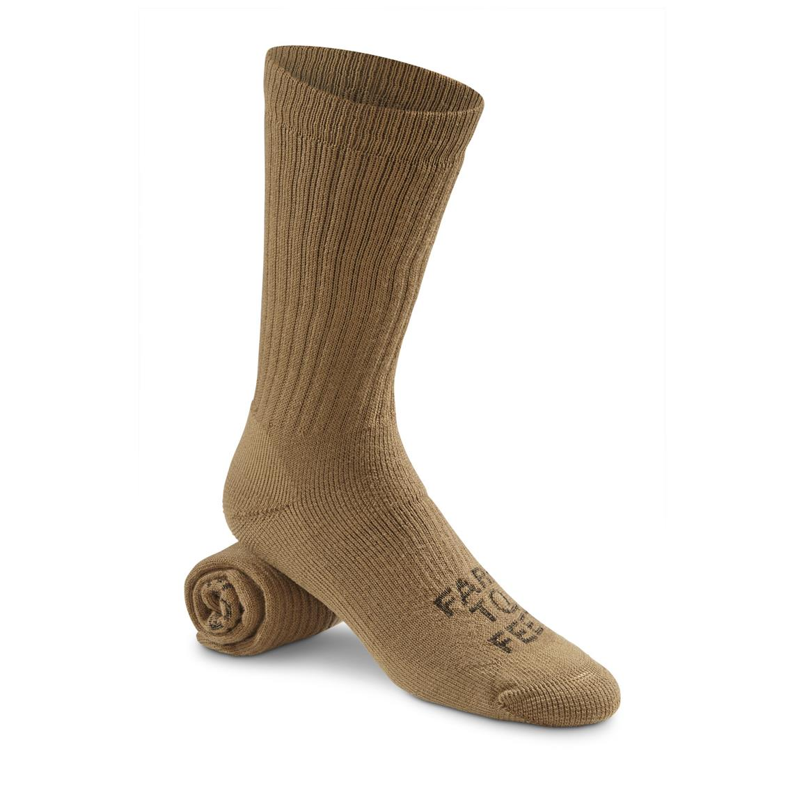 Farm to Feet Columbus Medium-Weight Boot Socks, Coyote Brown