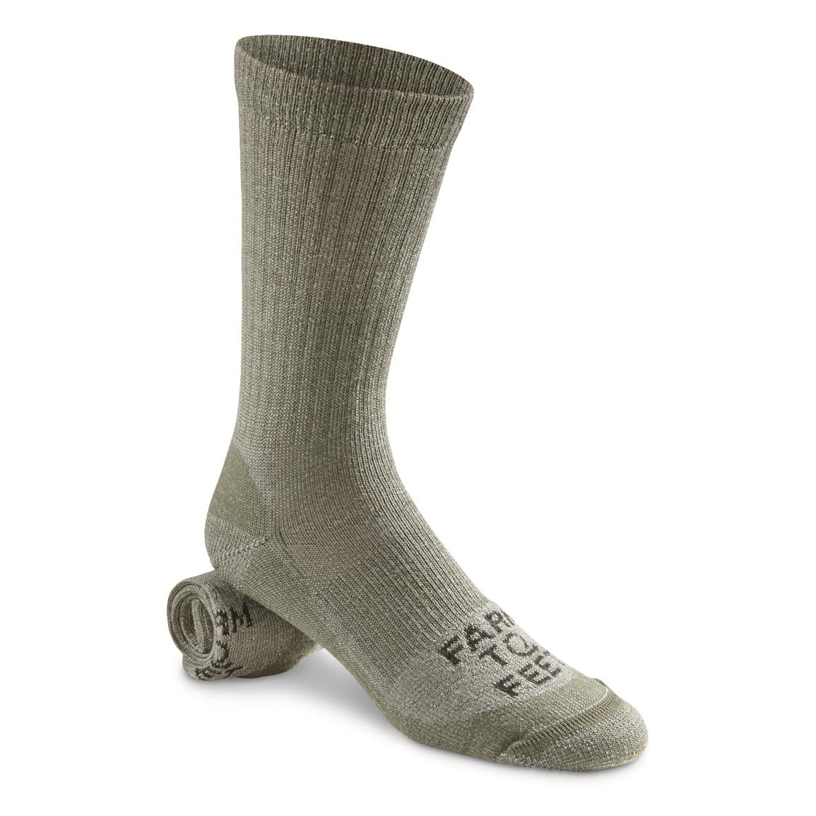 Farm to Feet Coronado Lightweight Crew Socks, Sage Green