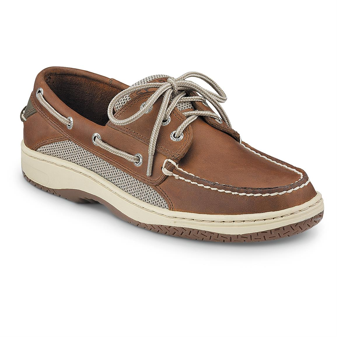 Sperry Men's Billfish 3-Eye Boat Shoes, Dark Tan
