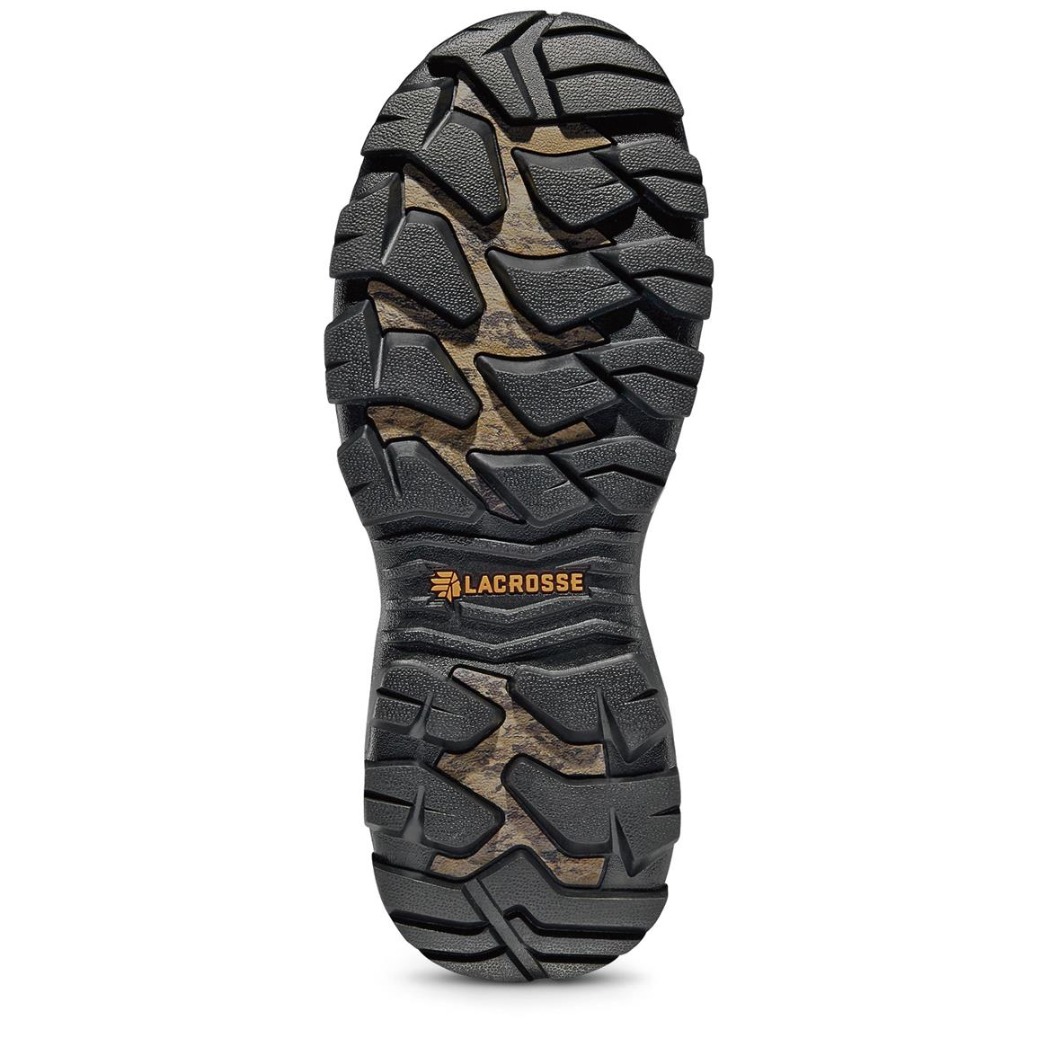 Burly Pro outsole delivers perfect traction on almost any terrain, and releases stability