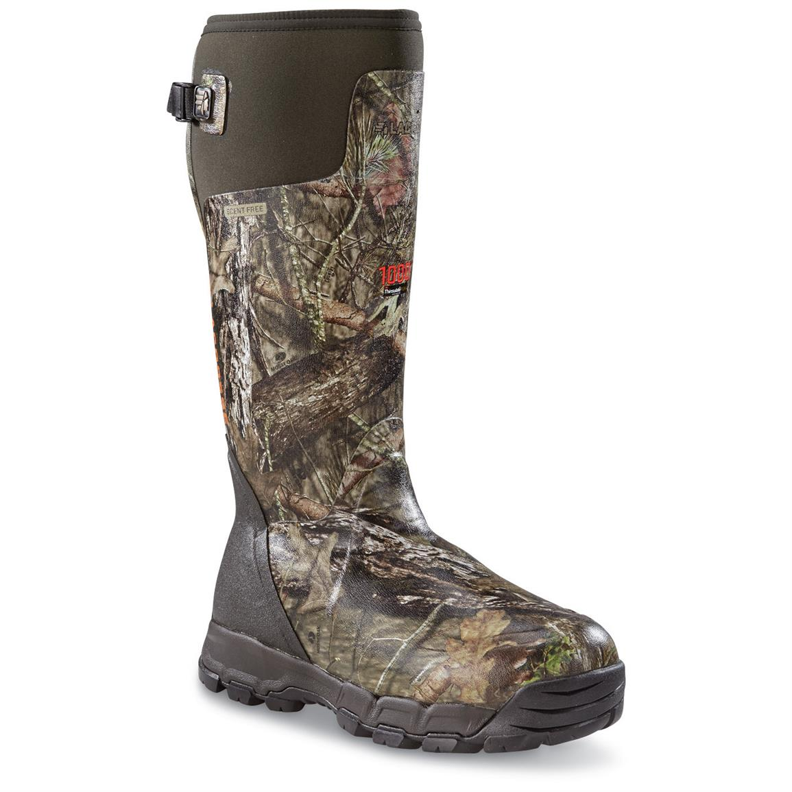 LaCrosse Men's Alphaburly Pro Rubber Waterproof  Hunting Boots, Mossy Oak Break-Up Country