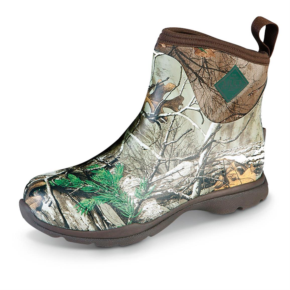 Muck Men's Arctic Excursion Insulated Waterproof Rubber Ankle Boots, Realtree Xtra