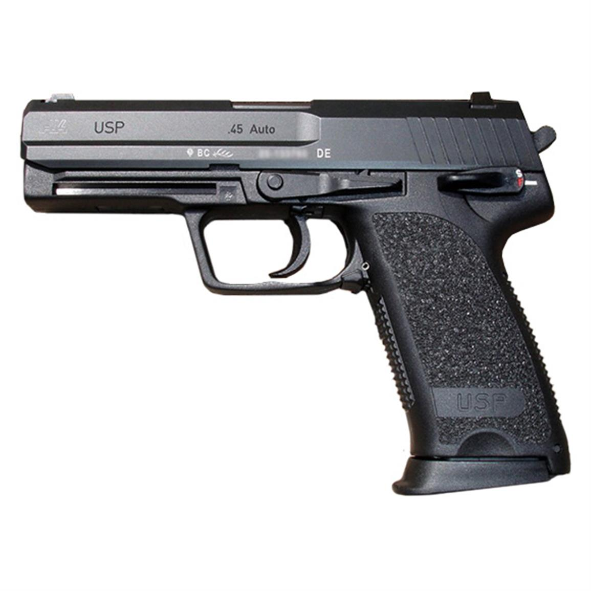 "Heckler & Koch USP 45 V1, Semi-Automatic, .45 ACP, 4.4"" Barrel, 10+1 Rounds, Used Police Trade-In"
