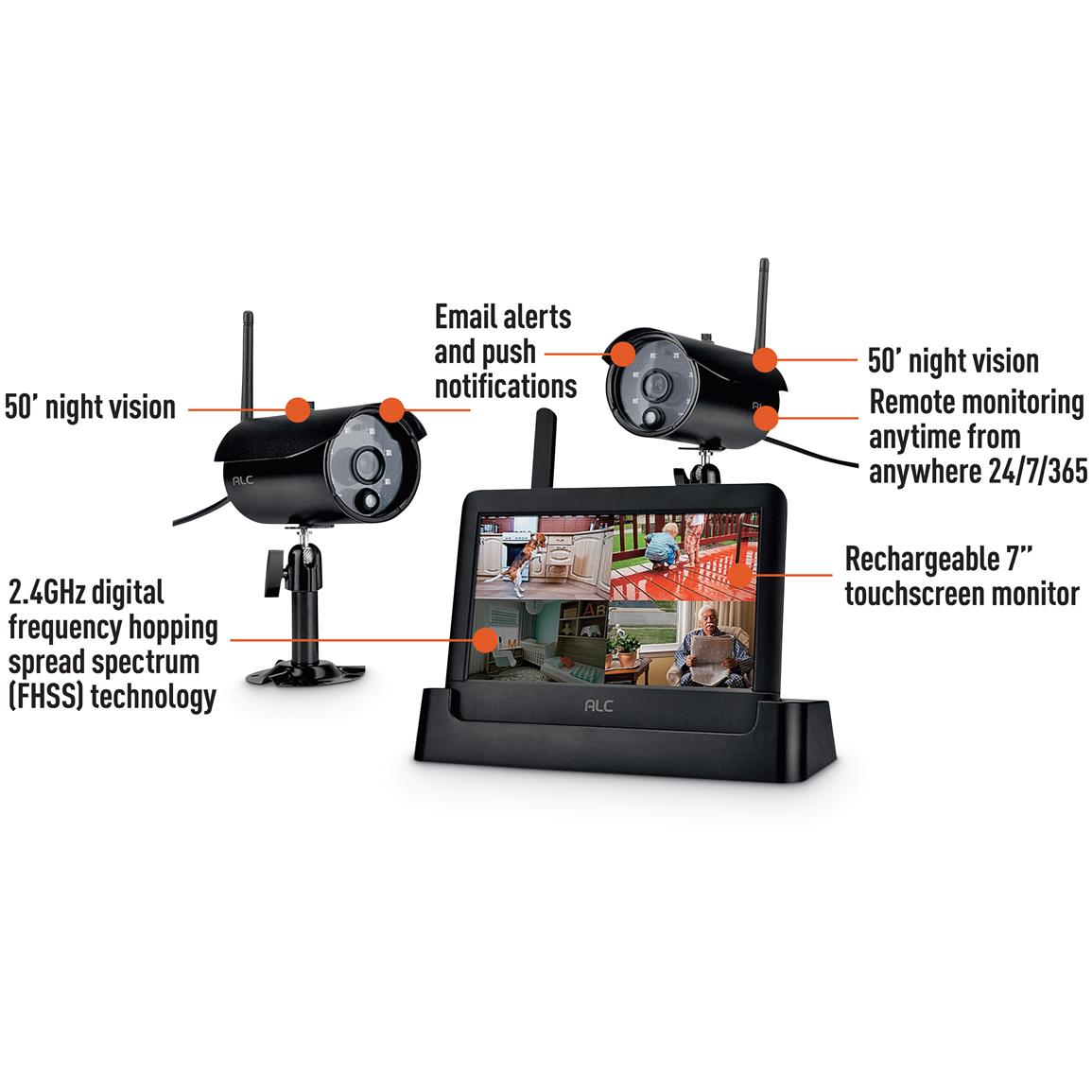 Alc Connected 7 Quot Touch Screen Surveillance System 669859