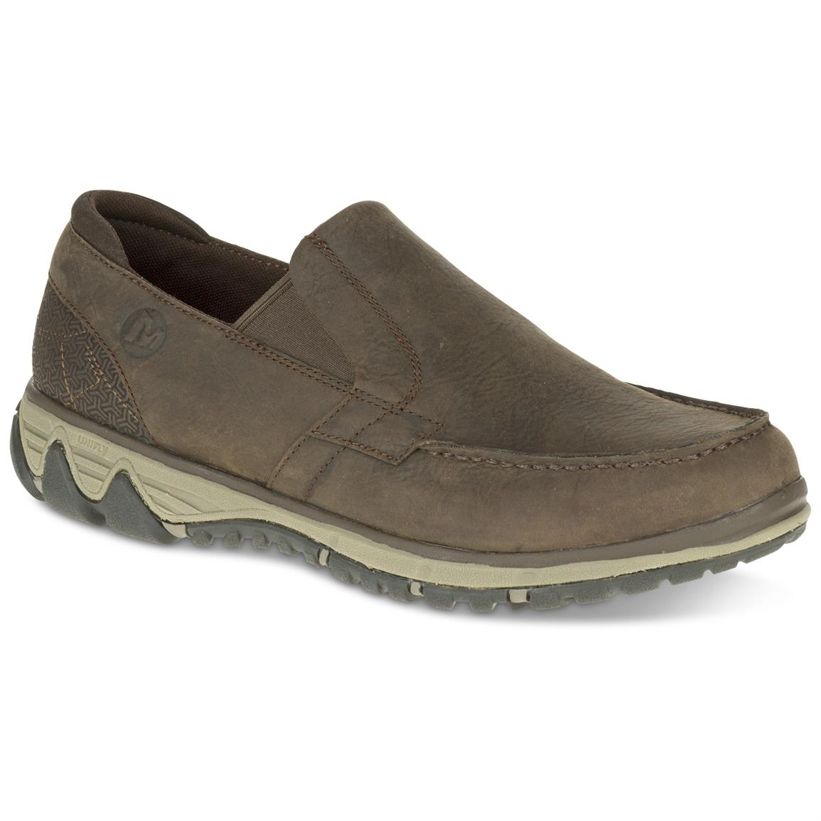 Merrell Men's All Out Blazer Moc Slip-on Shoes, Clay