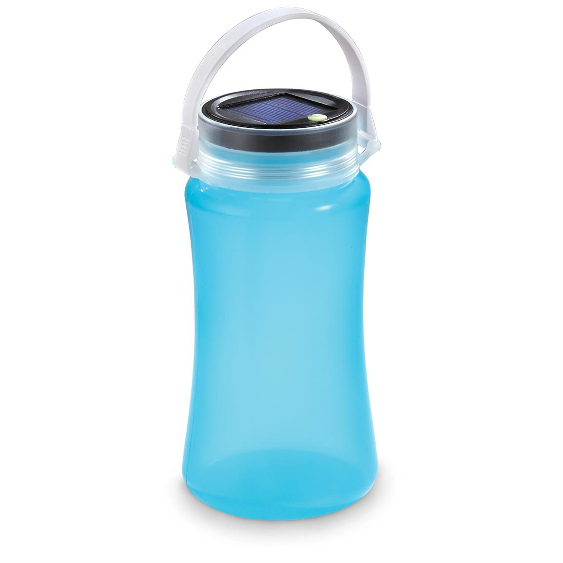 Guide Gear Silicone LED Bottle/Jar Lantern with Solar/USB Charging