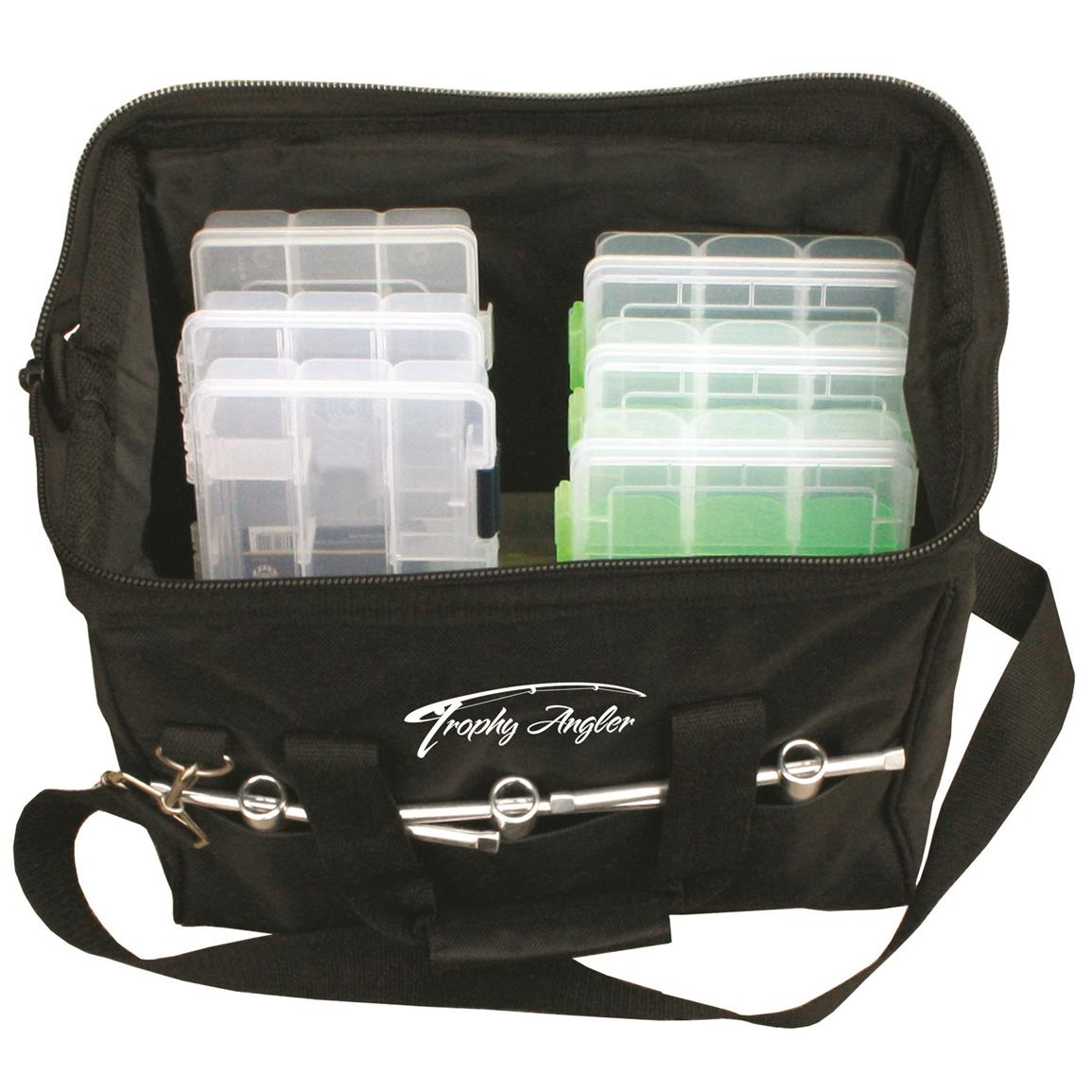 Multiple exterior pouches provide quick access to essentials