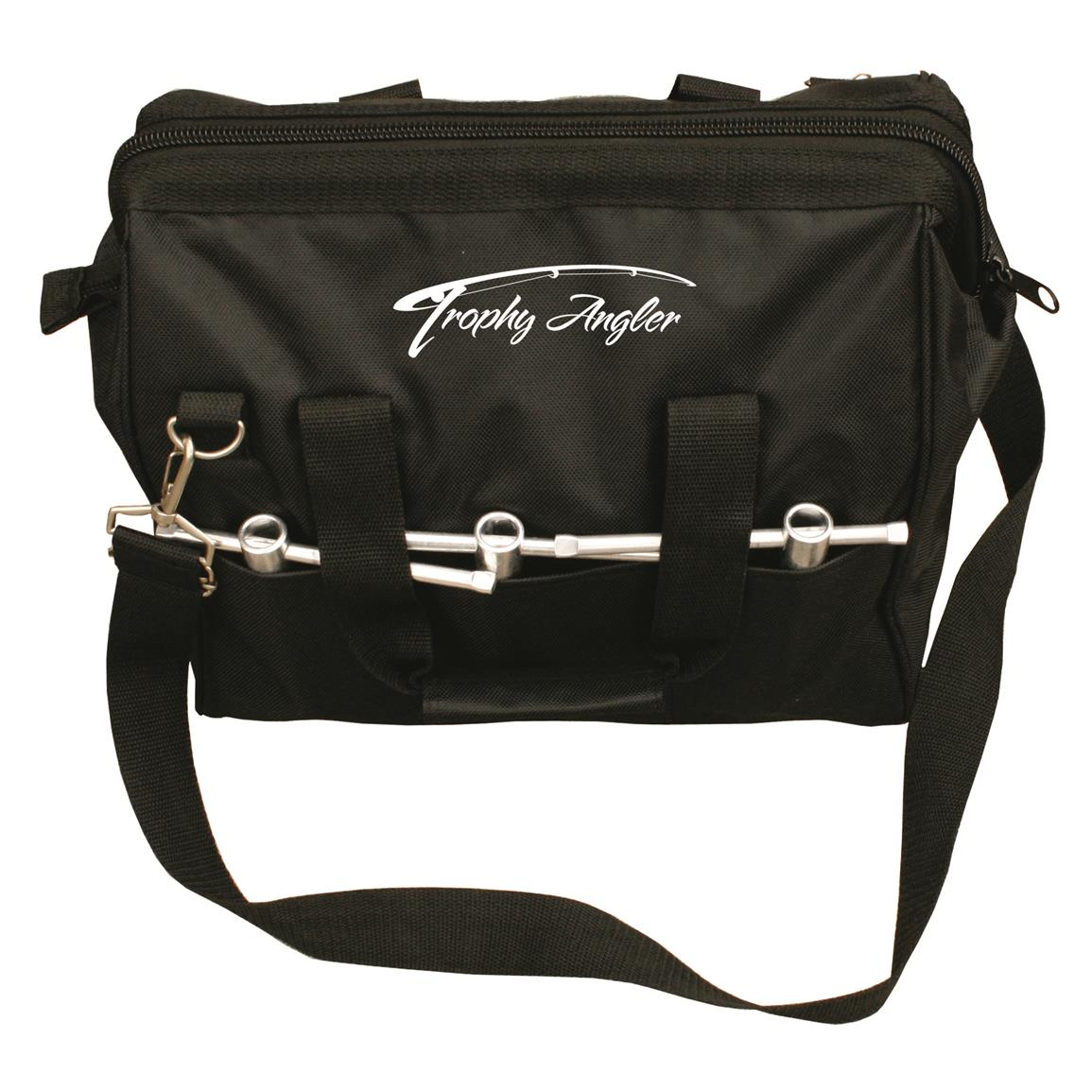 Heavy-duty handle and adjustable shoulder strap for secure carry