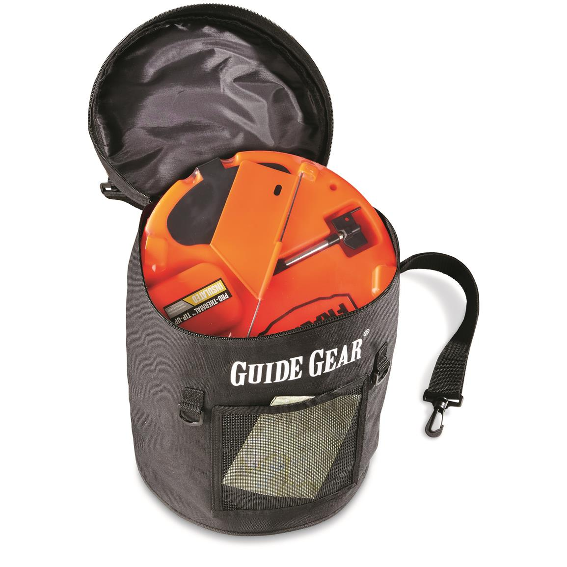 Made of heavy-duty 600 x 600 Denier polyester  sc 1 st  Sportsmanu0027s Guide & Guide Gear Ice Fishing Tip-Up Bag 3 Gallon - 670057 Ice Fishing ...